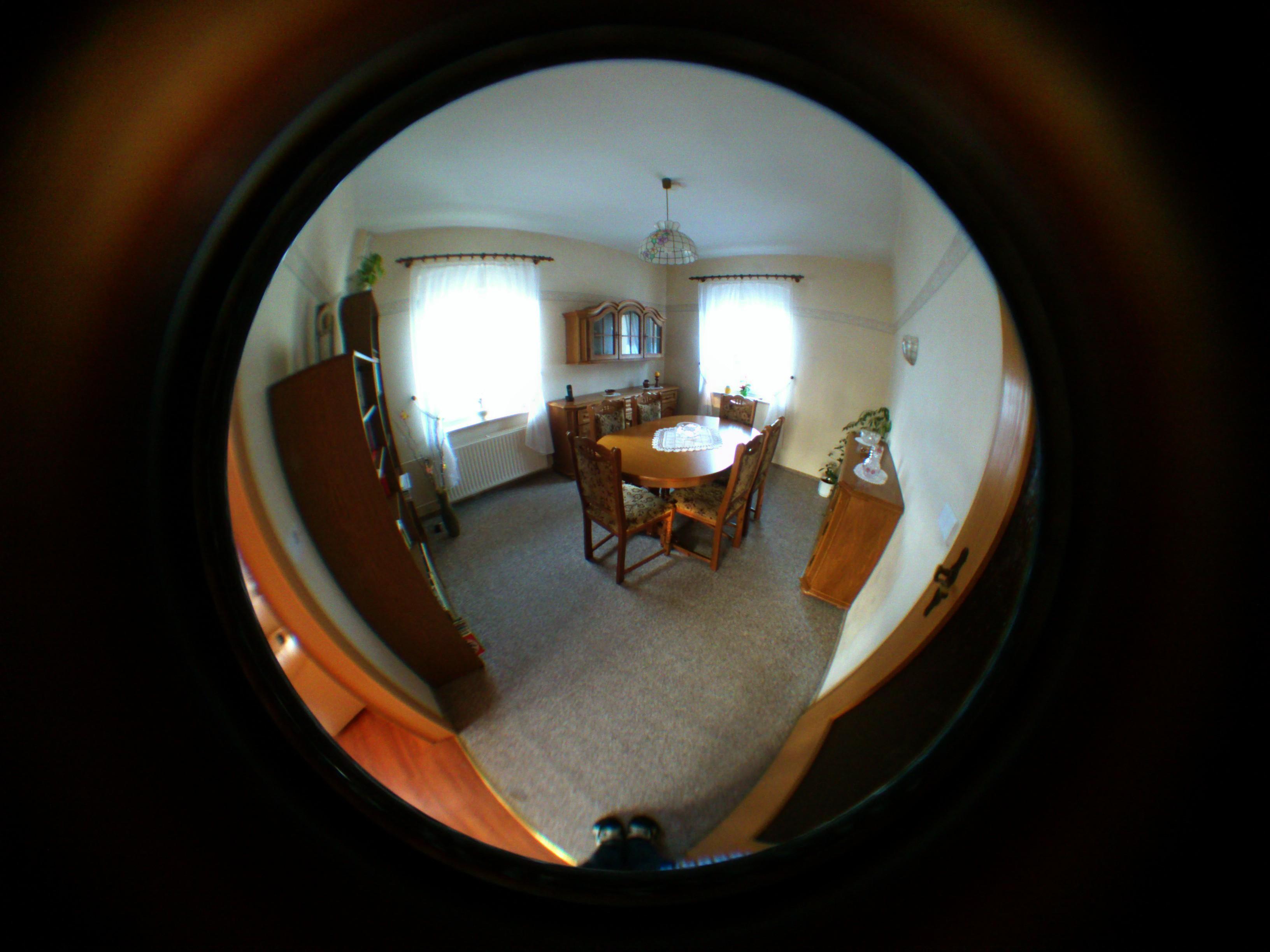 Lens real image images for Fish eye lense