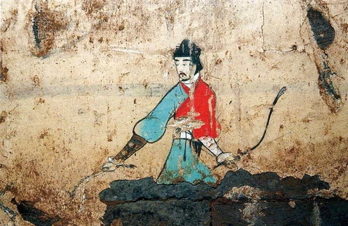 Concepts de personnages Fresco_of_a_Male_Figure_from_a_Han_Dynasty_Tomb_in_Sian%2C_Shensi