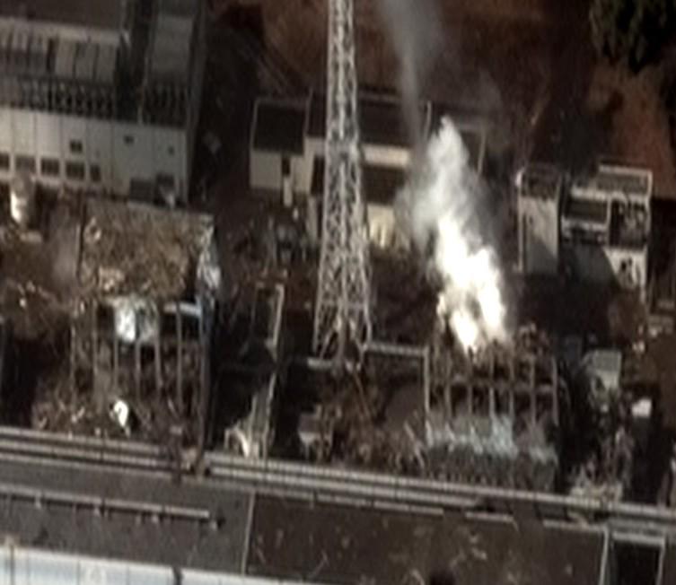 Zerstörtes Kraftwerk in Fukushima