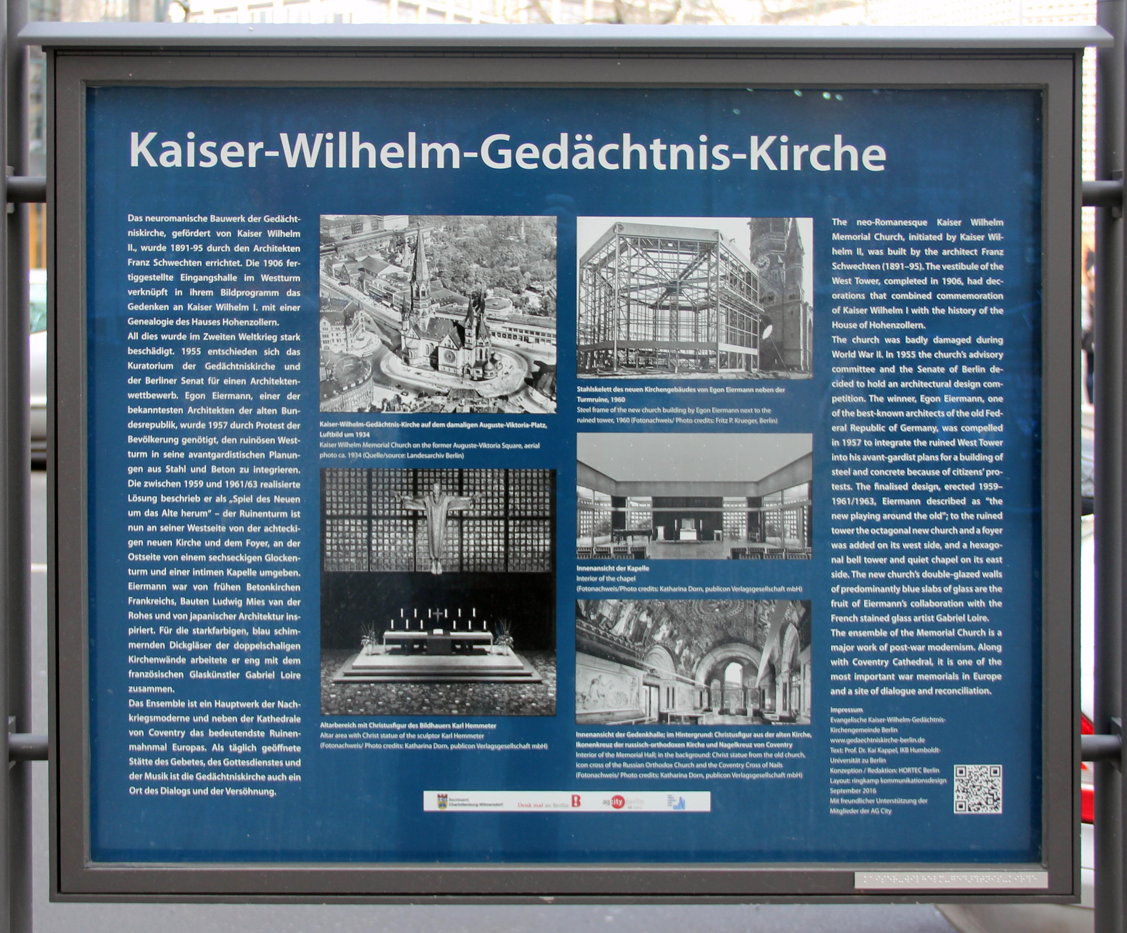 Datei Gedenktafel Rankestr 35 Charl Kaiser Wilhelm Gedachtniskirche Jpg Wikipedia