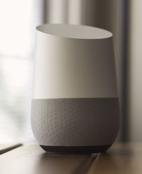 File:Google Home sitting on table.jpg