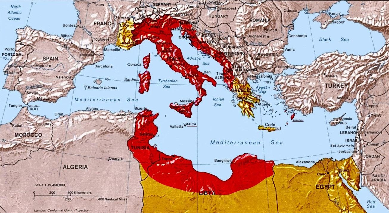Cartina Italia Politica 1940.Colonialismo Italiano Wikipedia