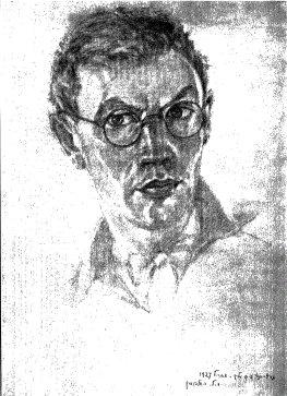 Moyshe-Leyb Halpern, autorretrato, 1927