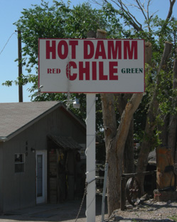 Schild in Hatch (New Mexico)