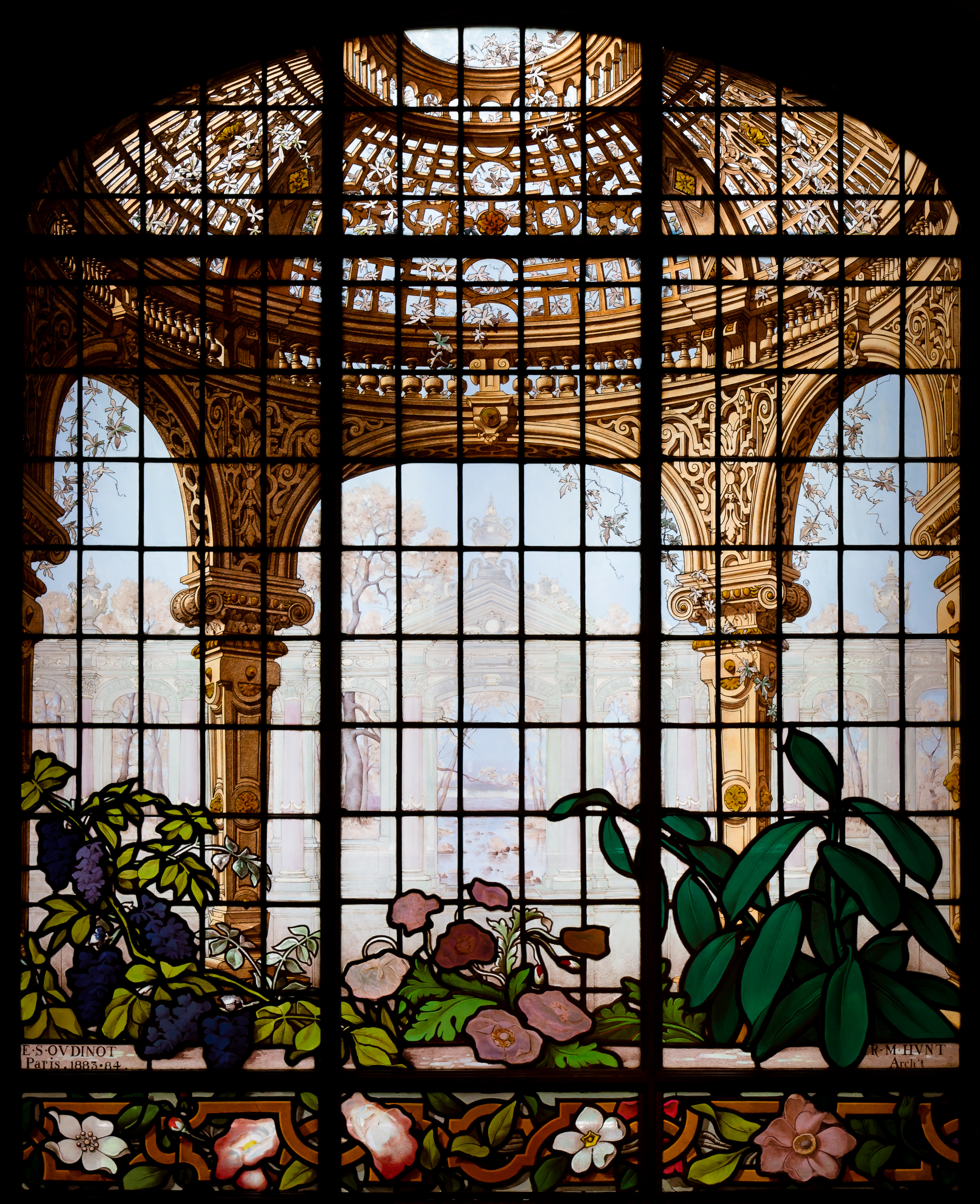 File henry g marquand house conservatory stained glass for Window design art