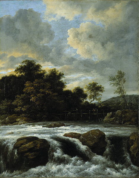 Jacob Isaacksz van Ruisdael: Landscape with Waterfall
