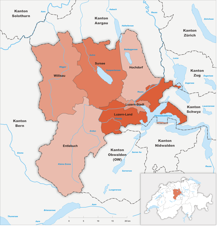 Wahlkreise des Kantons Luzern
