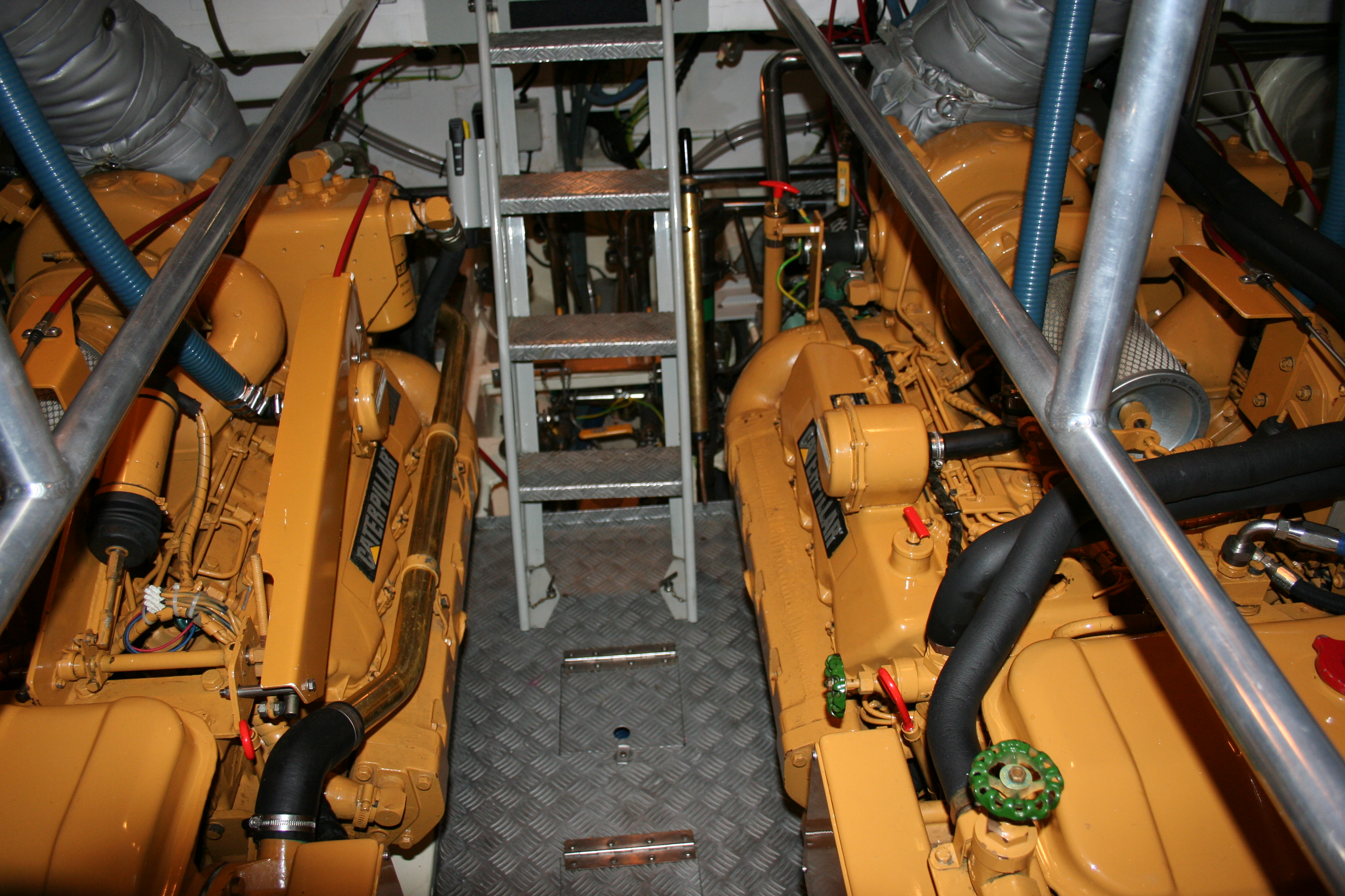 Twin Caterpillar 3208T engines powering Clogher Head lifeboat (Ireland)