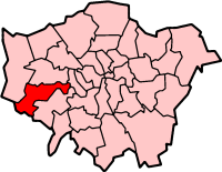 Hounslow London, map