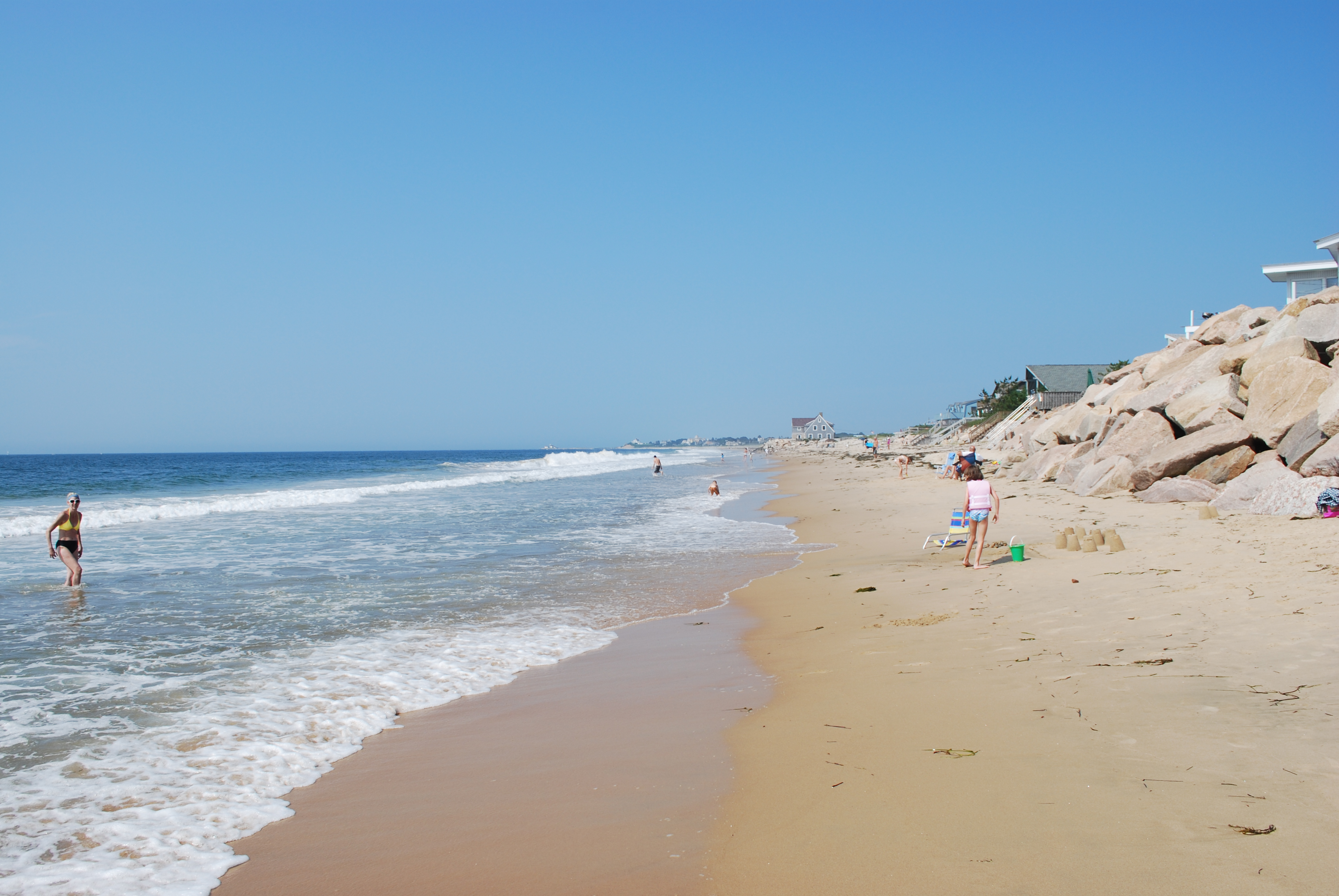 File Looking West At Misquamicut Beach Rhode Island Jpg