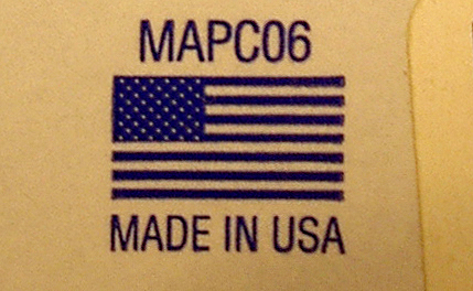 Made in USA label 02