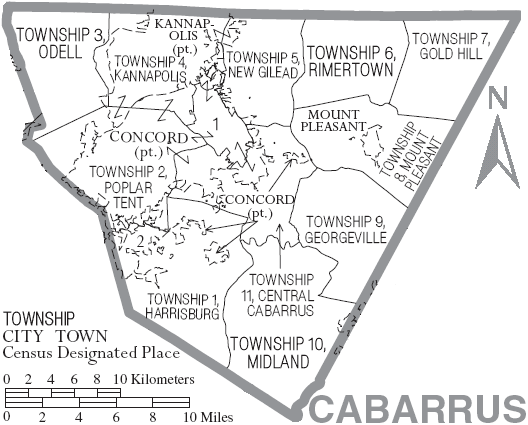 File:Map of Cabarrus County North Carolina With Municipal and Township Labels.PNG