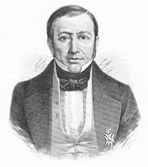Depiction of Mariano Paredes y Arrillaga