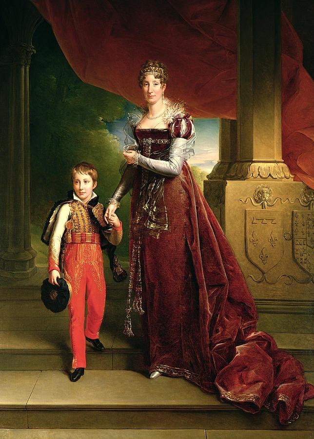 Marie Amélie, Duchess of Orléans with her son the Duke of Chartres.jpg