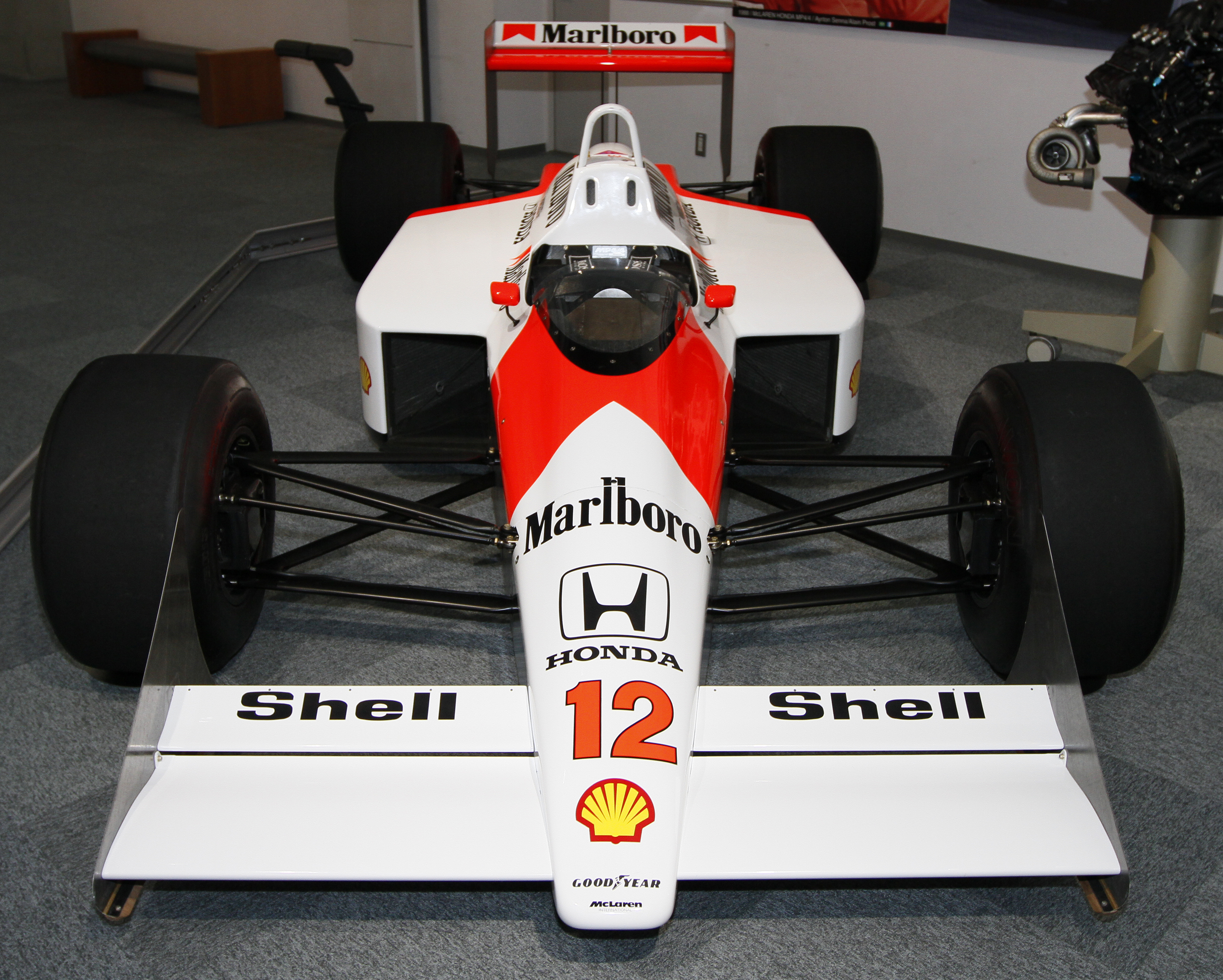 File Mclaren Mp4 4 Front View Honda Collection Hall Jpg