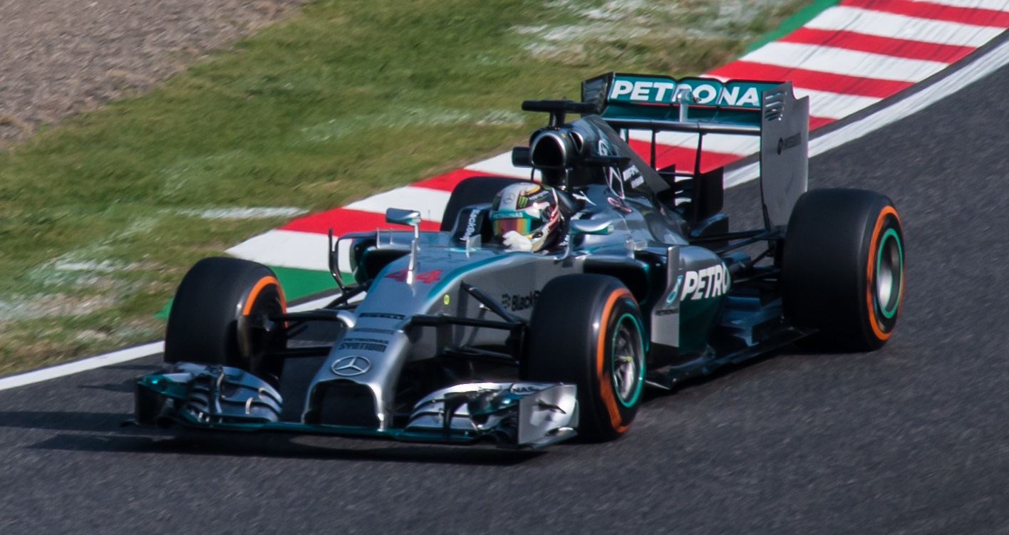 Mercedes Race Car Hood Off