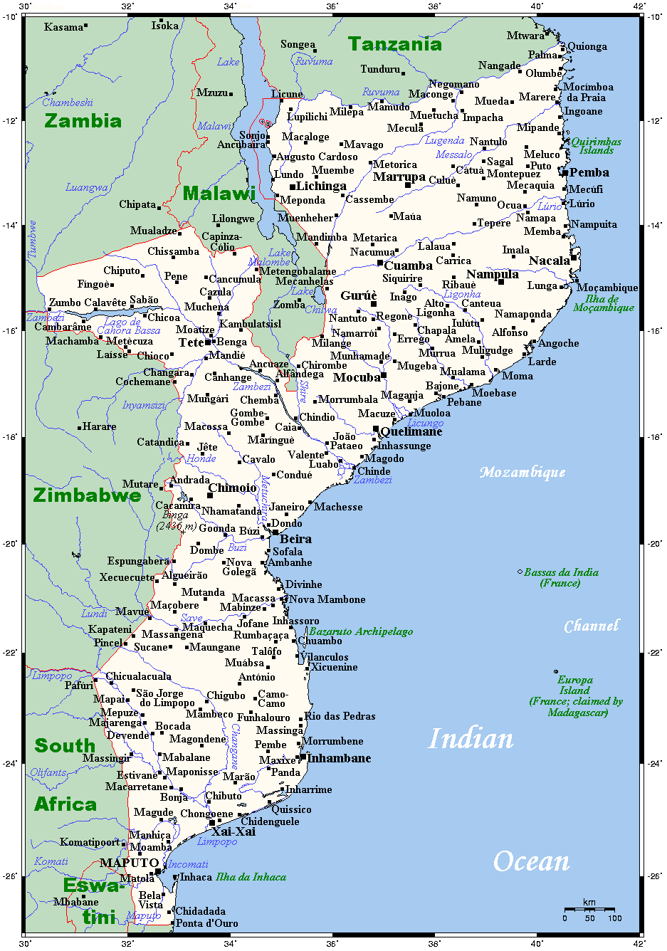 Geography of mozambique wikipedia sciox Choice Image