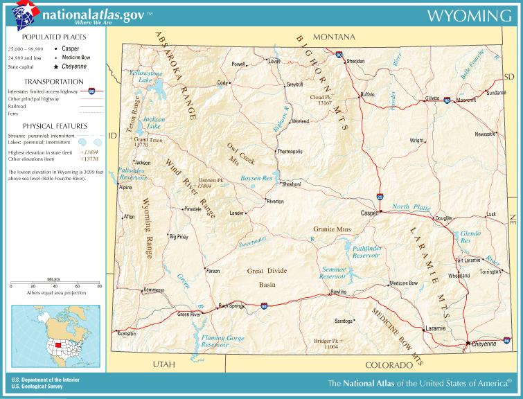 Wyoming Map Geography Of Wyoming Map Of Wyoming Worldatlascom - Wyoming map us