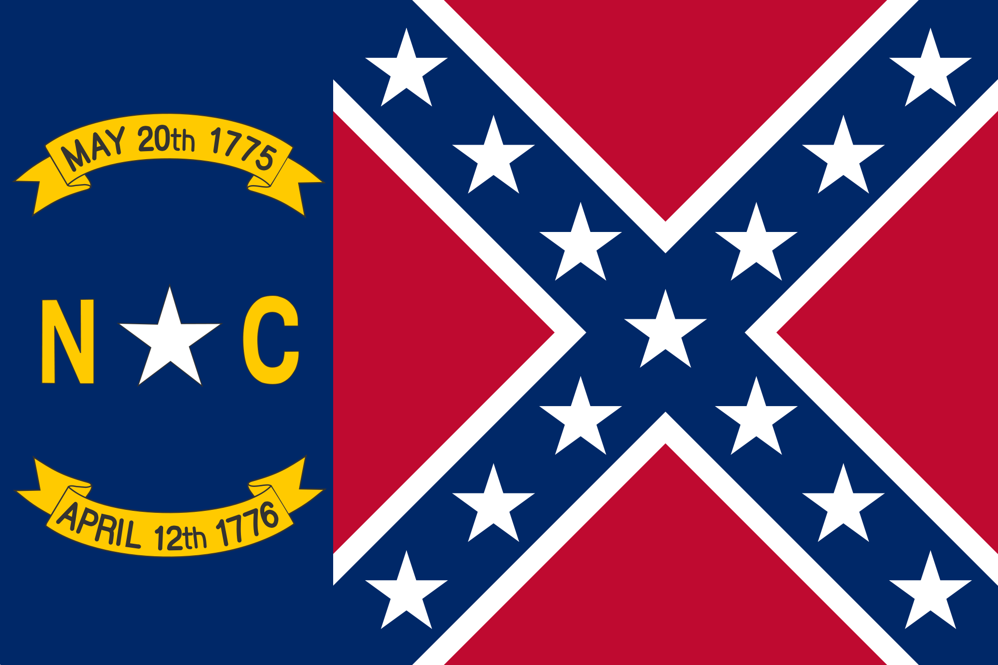 North Carolina Civil War Flag North Carolina State Flag