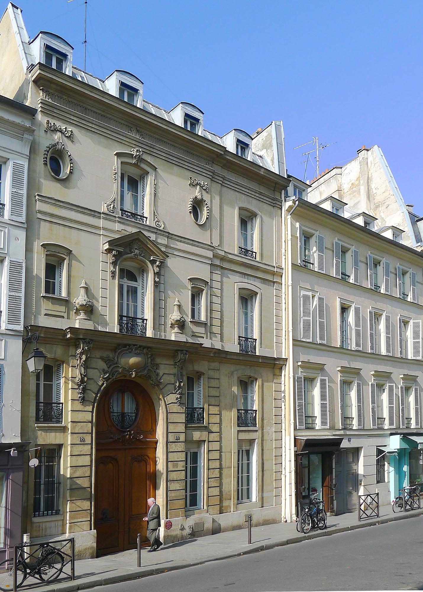 File p1090231 paris vi rue du cherche midi n 18 rwk jpg for Cherche hotel