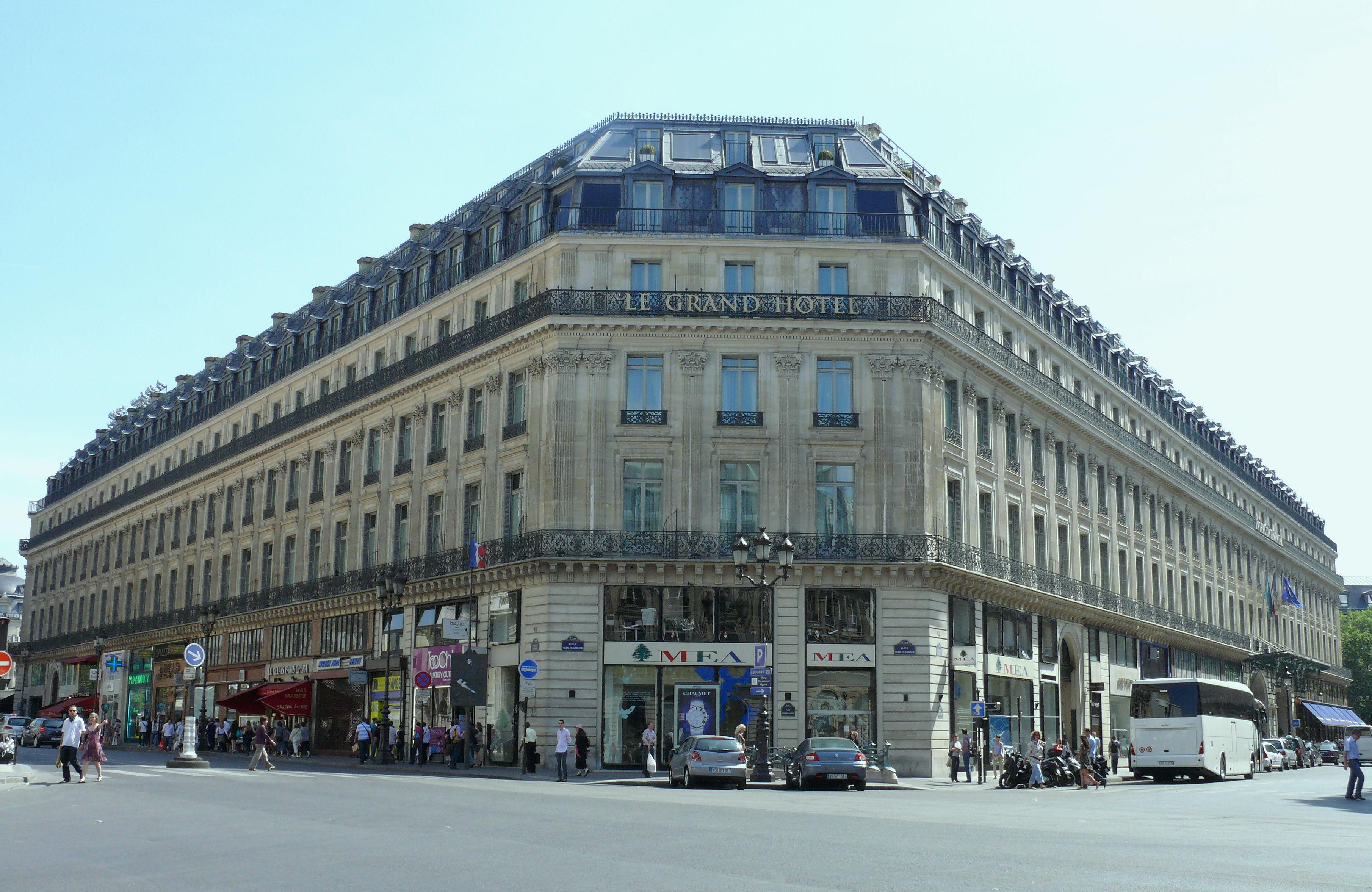 File Paris 9 - Le Grand H U00f4tel Vu De La Place Charles-garnier -151 Jpg