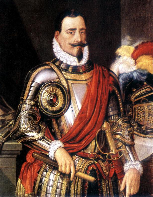 Depiction of Pedro de Valdivia