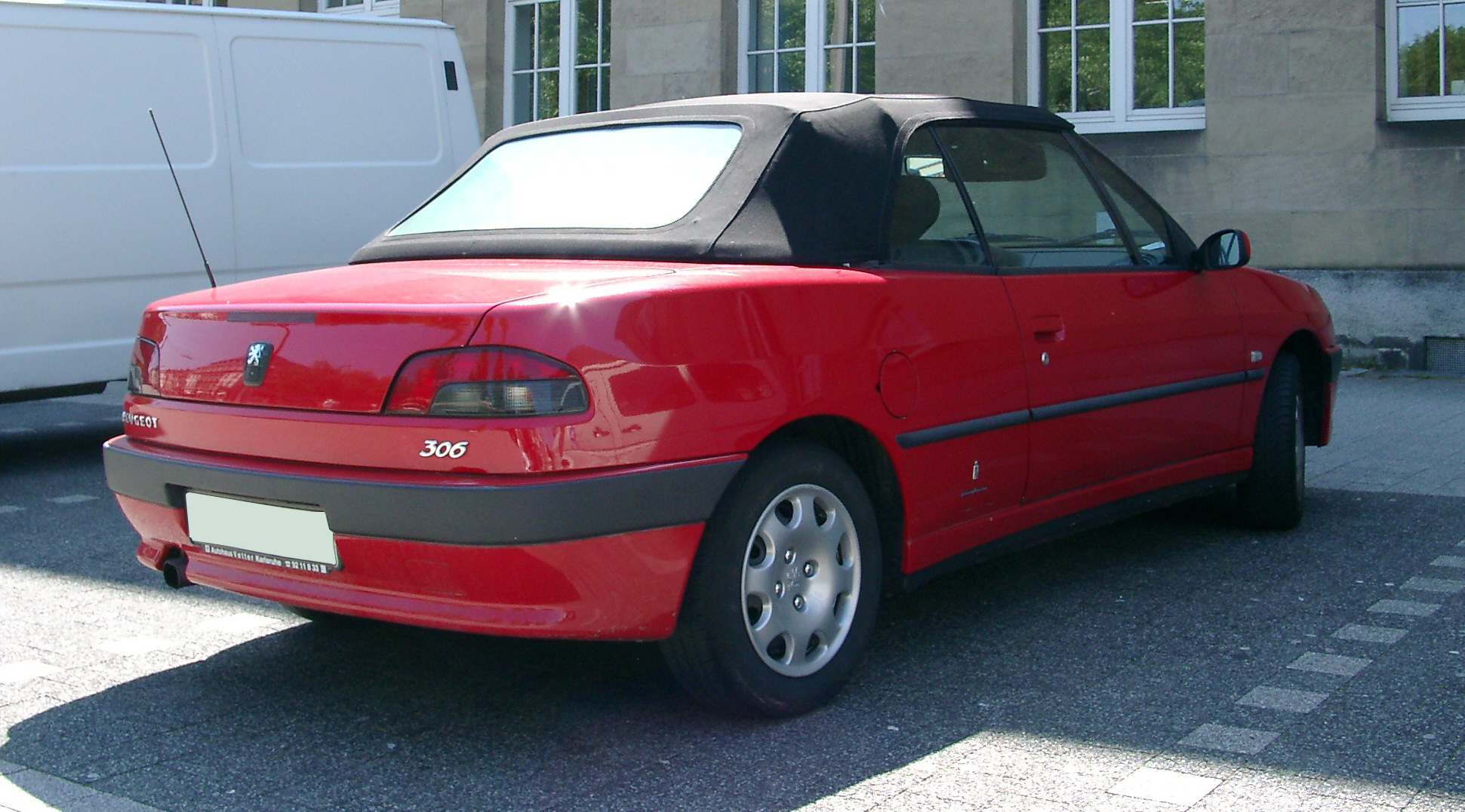 file peugeot 306 cabrio rear wikimedia commons. Black Bedroom Furniture Sets. Home Design Ideas