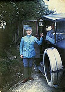 Pétain in 1915. Autochrome portrait by Jules Gervais-Courtellemont
