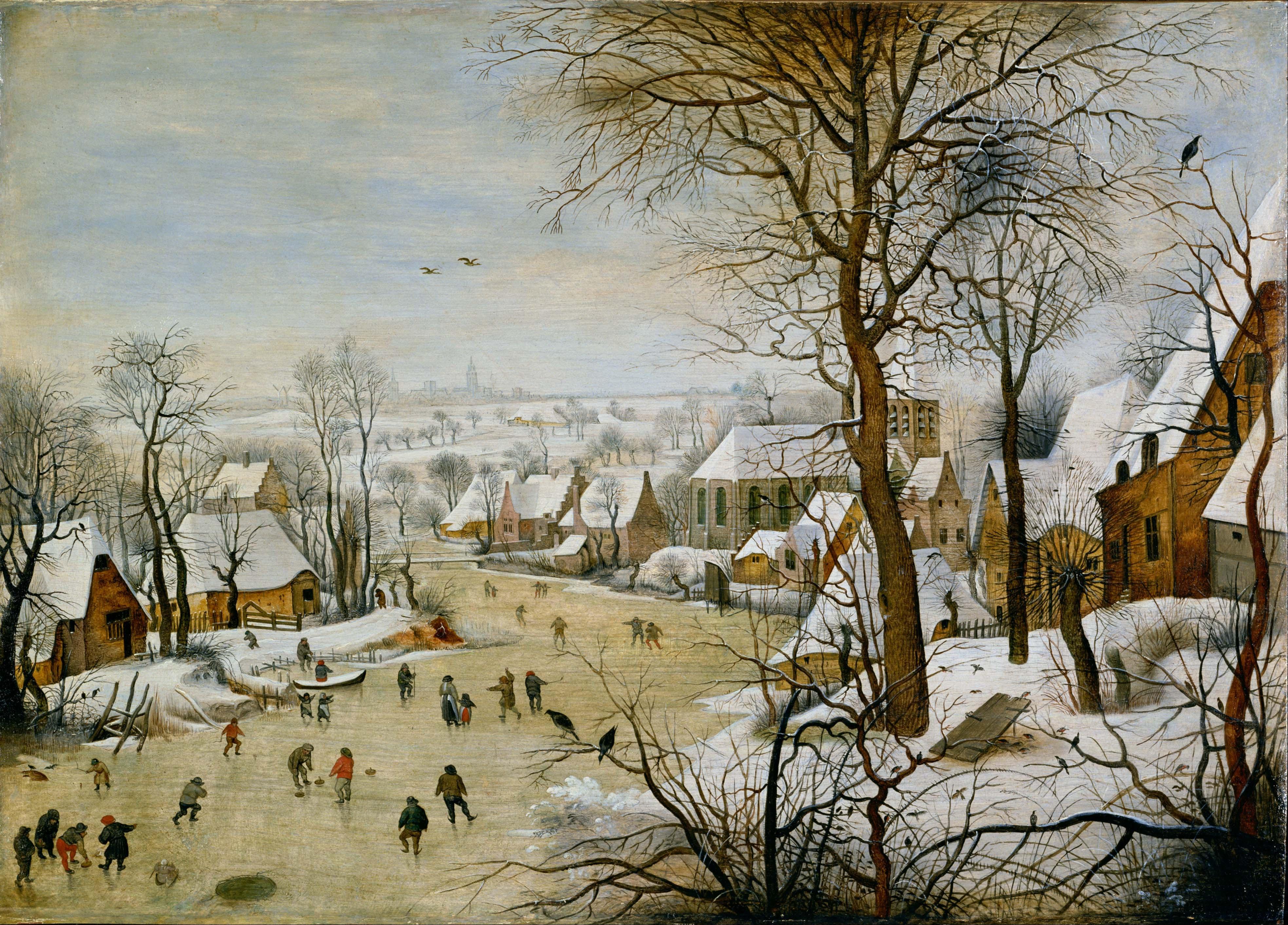 File pieter brueghel the younger winter landscape with bird trap google art - Schilderij trap ...