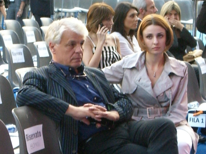Nella foto: Michele Placido e la moglie Federica Vincenti nel 2008
