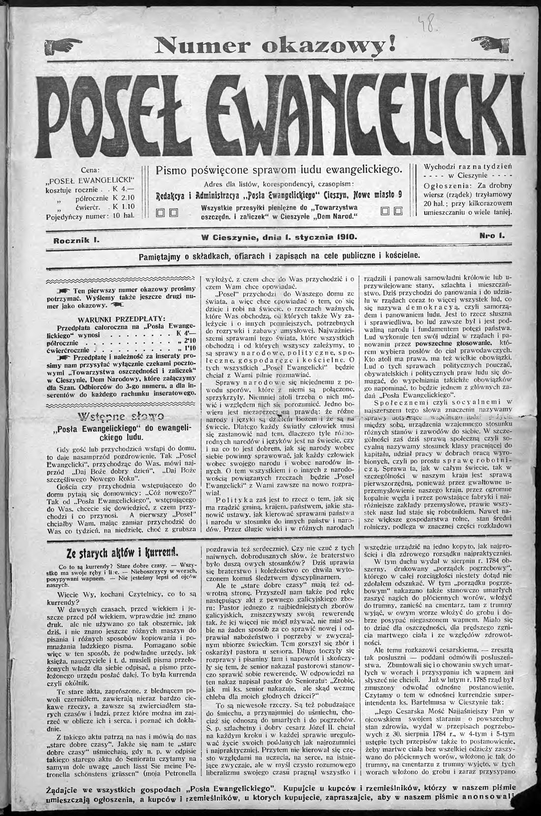 Fileposeł Ewangelicki 01 01 1910jpg Wikimedia Commons