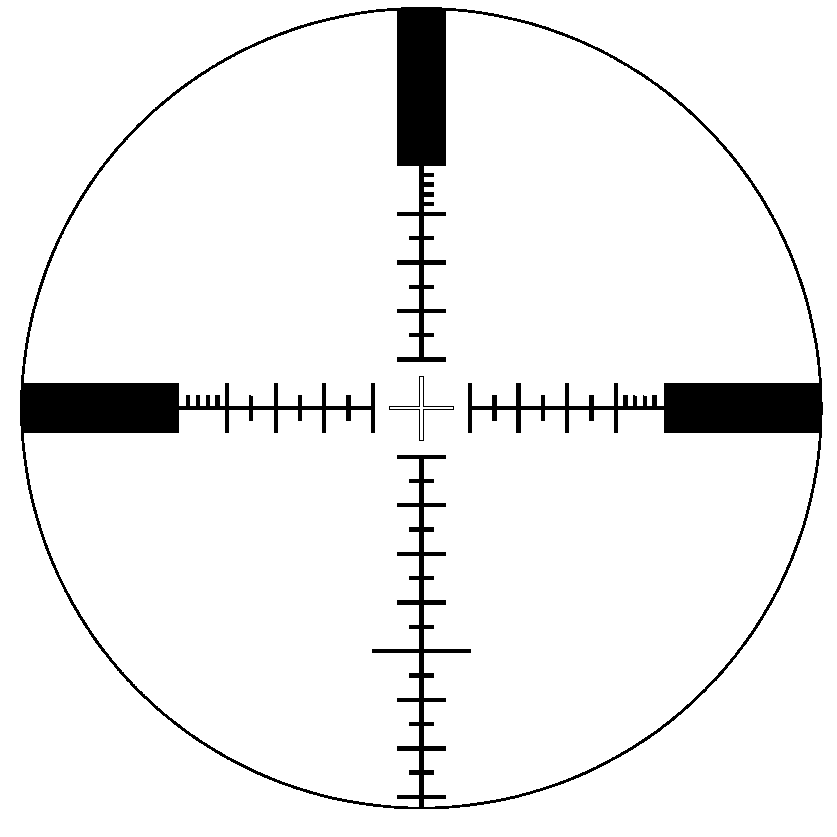 Reticle Types http://en.wikipedia.org/wiki/File:S%26B_P4_reticle_at_25x_zoom.png