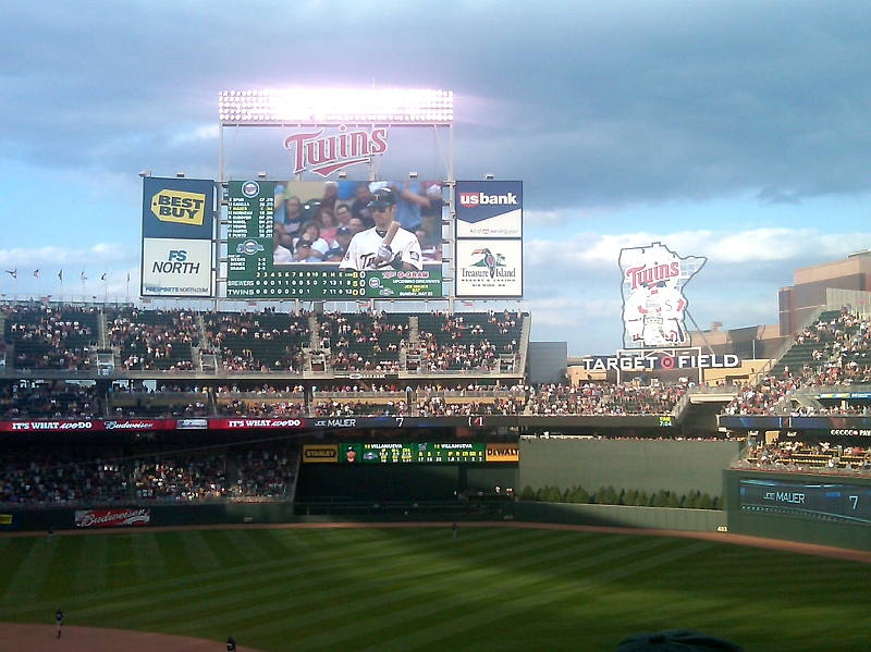 target field seating view. target field seating view.