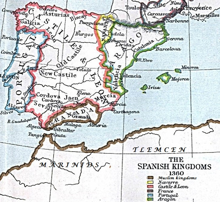 Spain And Africa Map.File Spain And Western North Africa 1360 Jpg Wikimedia Commons