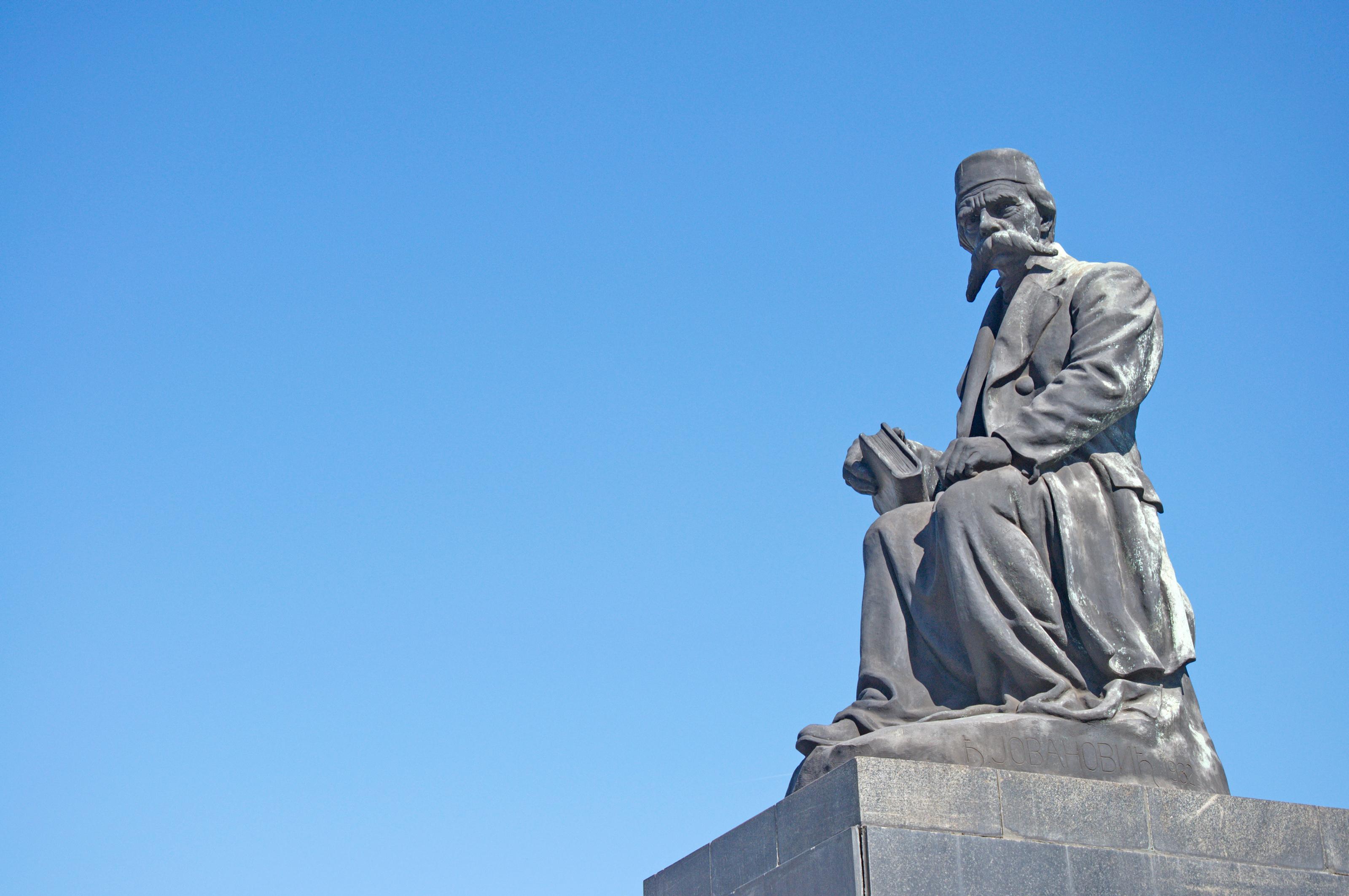 File Spomenik Vuku Karadzicu U Beogradu 03 Jpg Wikimedia Commons