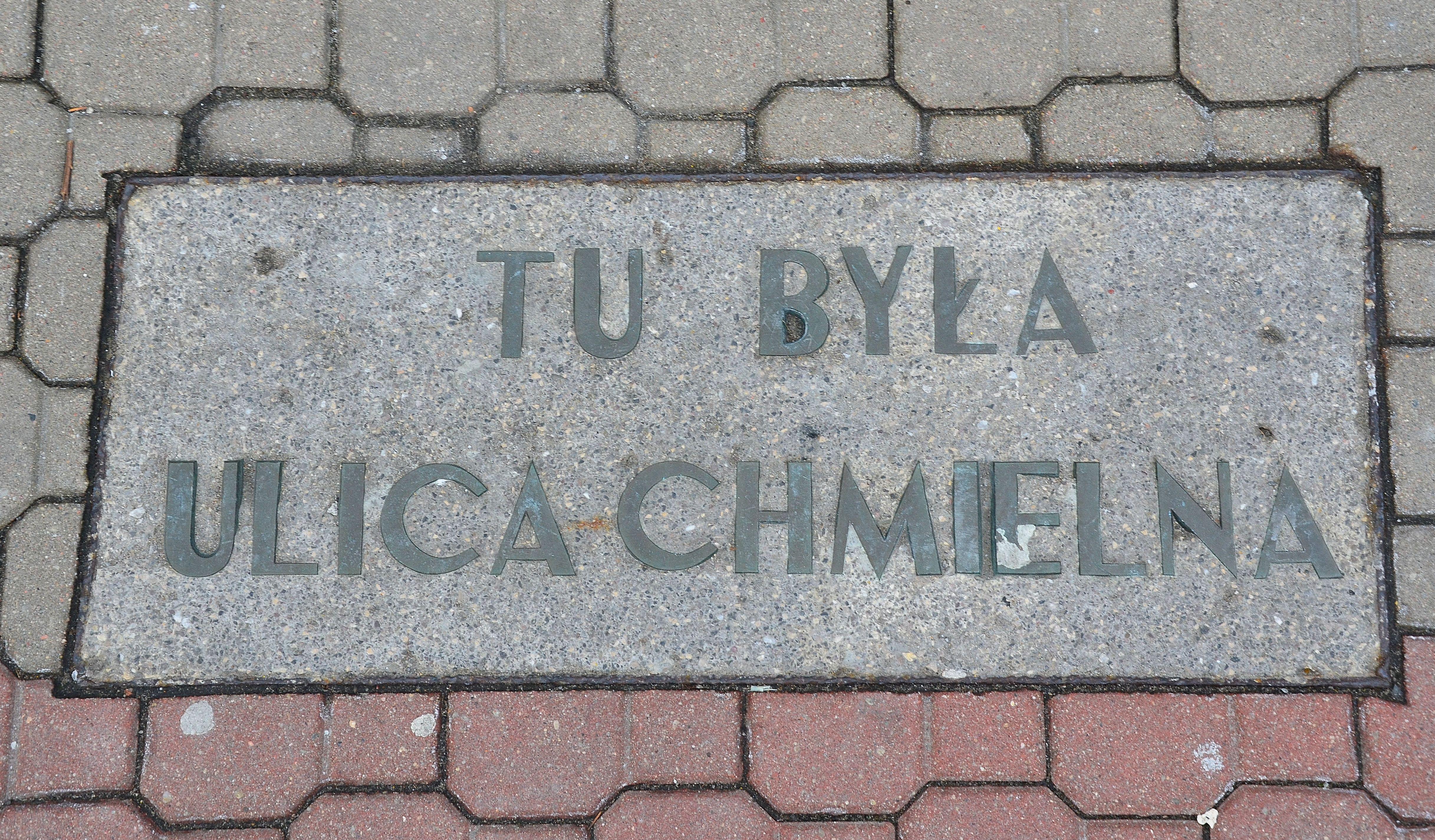 Tablica tu była ulica Chmielna.JPG