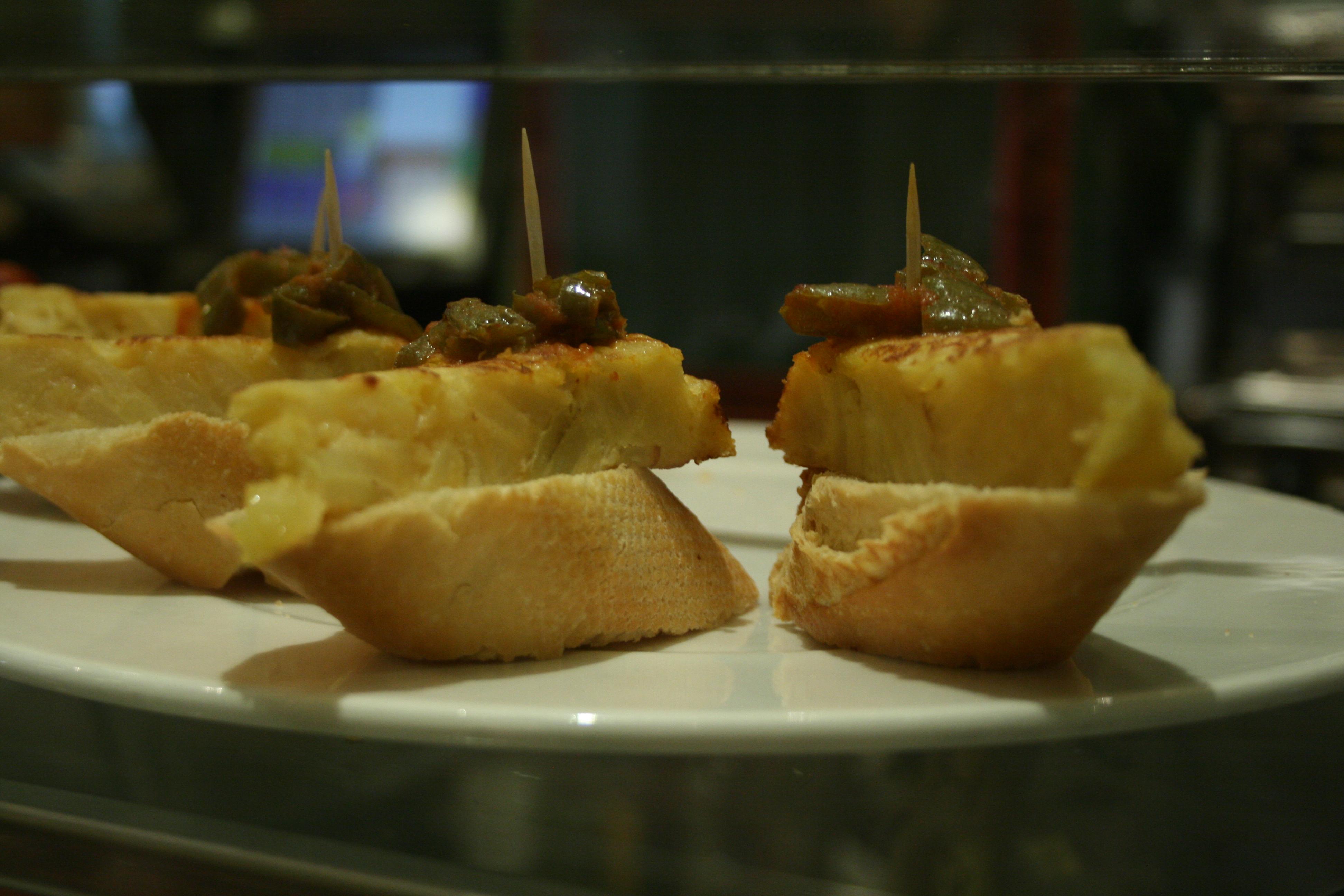 tapas de tortilla espanola