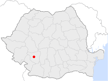 Location of Târgu Jiu