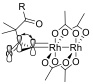 The dirhodium(II)tetracarboxylate metallocarbene stabilized by πC-Rh→πC=O hyperconjugation. Modified from M. Hodgson, D.; H. Labande, A.; Muthusamy, S. In Organic Reactions; John Wiley & Sons, Inc.: 2004.