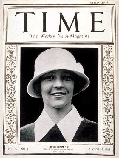 Edith Cummings Time Cover