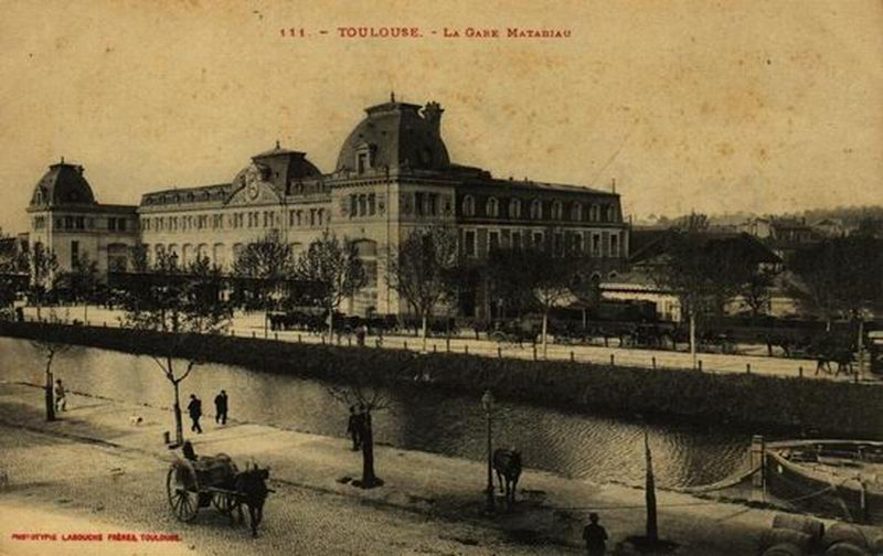 Toulouse gare matabiau canal du midi postcard.jpg