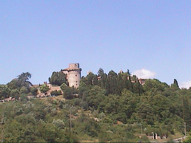 Trequanda, Panorama dalla strada per Sinalunga