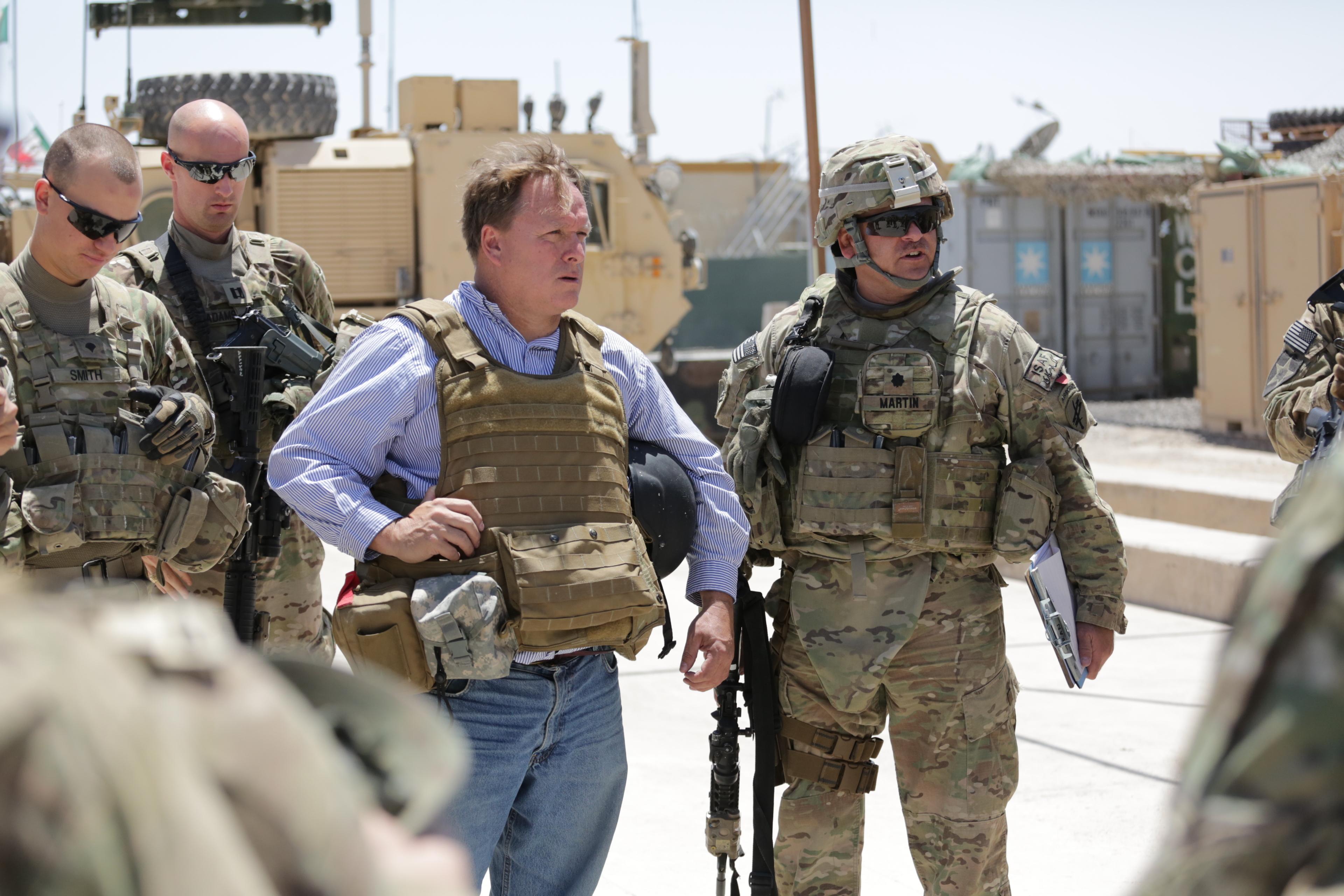 File:U.S. Army Lt. Col. Mark Martin, right, a civil affairs team ...