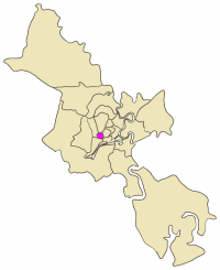 Map showing the location of District 6 within metropolitan Ho Chi Minh City