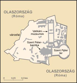 Vatikánváros térképe