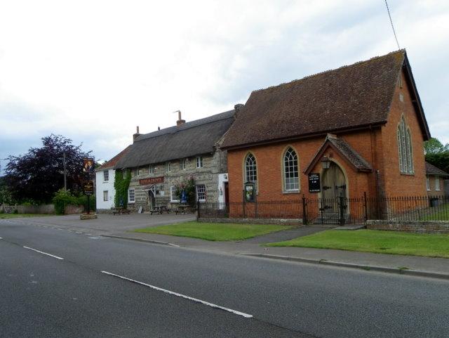 Village scene, Tilshead - geograph.org.uk - 2454394