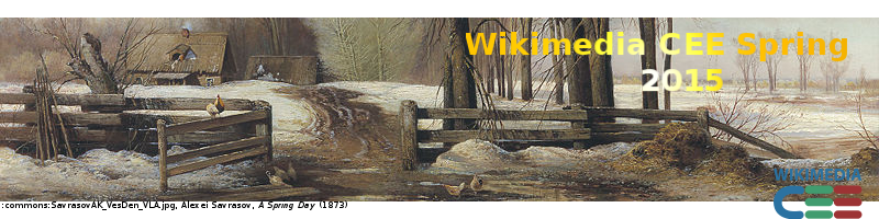 A fragment from picture of Savrasov (A Spring Day), cropped and transformed to a WMCEE Spring header