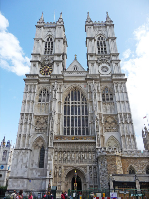 West Side of Westminster Abbey, London - geograph.org.uk - 1406999.jpg