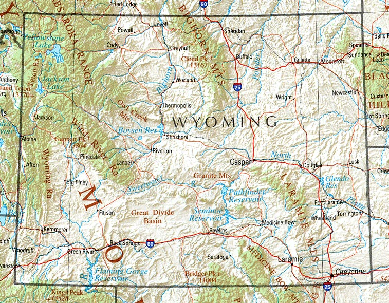 wyoming map for barber college locations