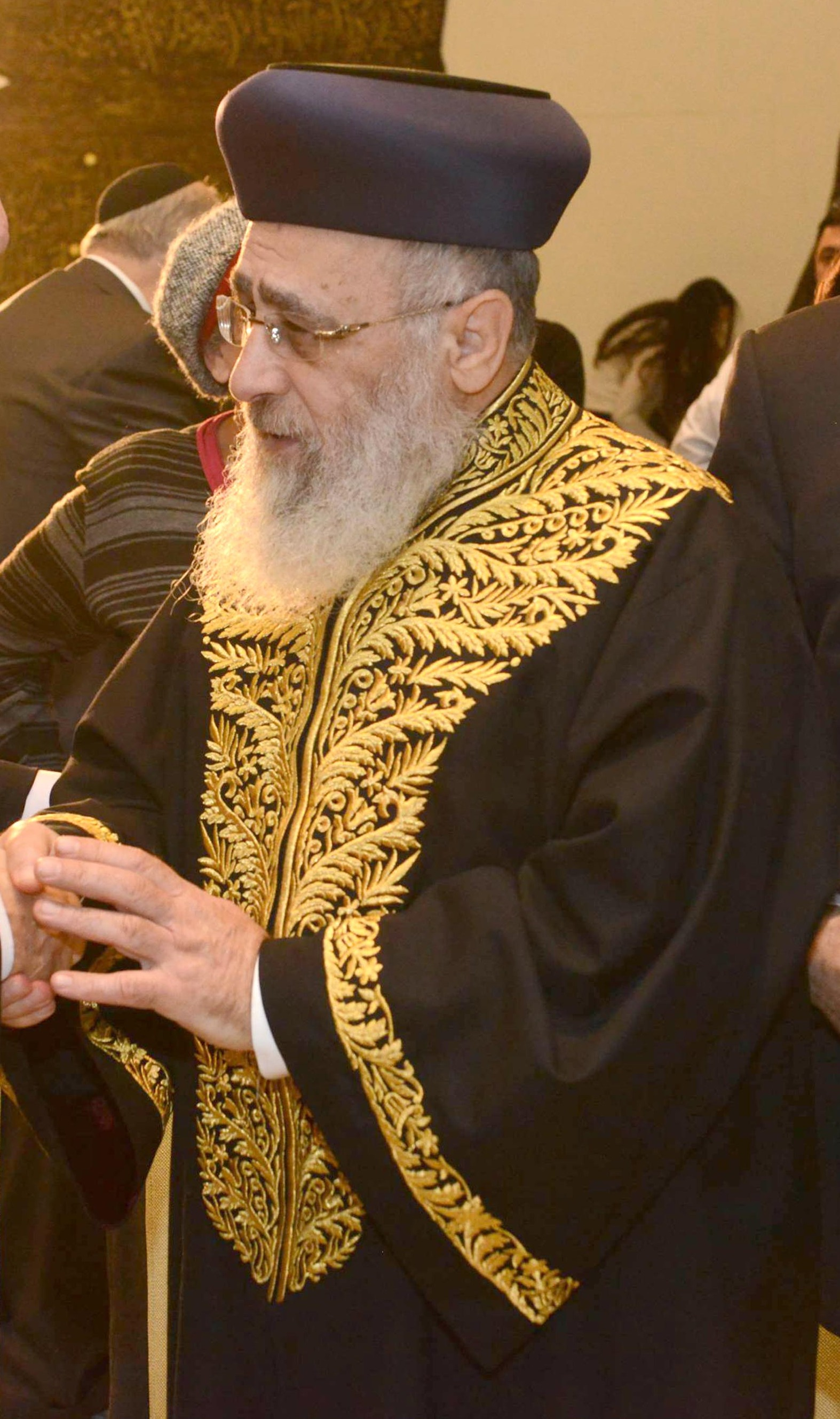 Der sephardische Großrabbiner Yitzhak Yosef. (Quelle: Government Press Office of Israel - Mark Nayman via Wikimedia Commons unter Lizenz CC-BY-SA 3.0)